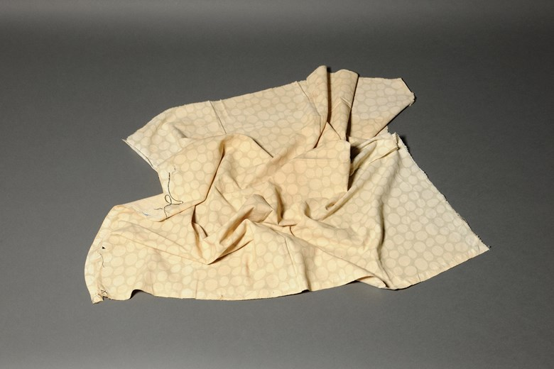 Objects of War n.6.Ahmad Ghossein - A cloth from Khiam detention camp.(LJ-MMI-2014-A12)